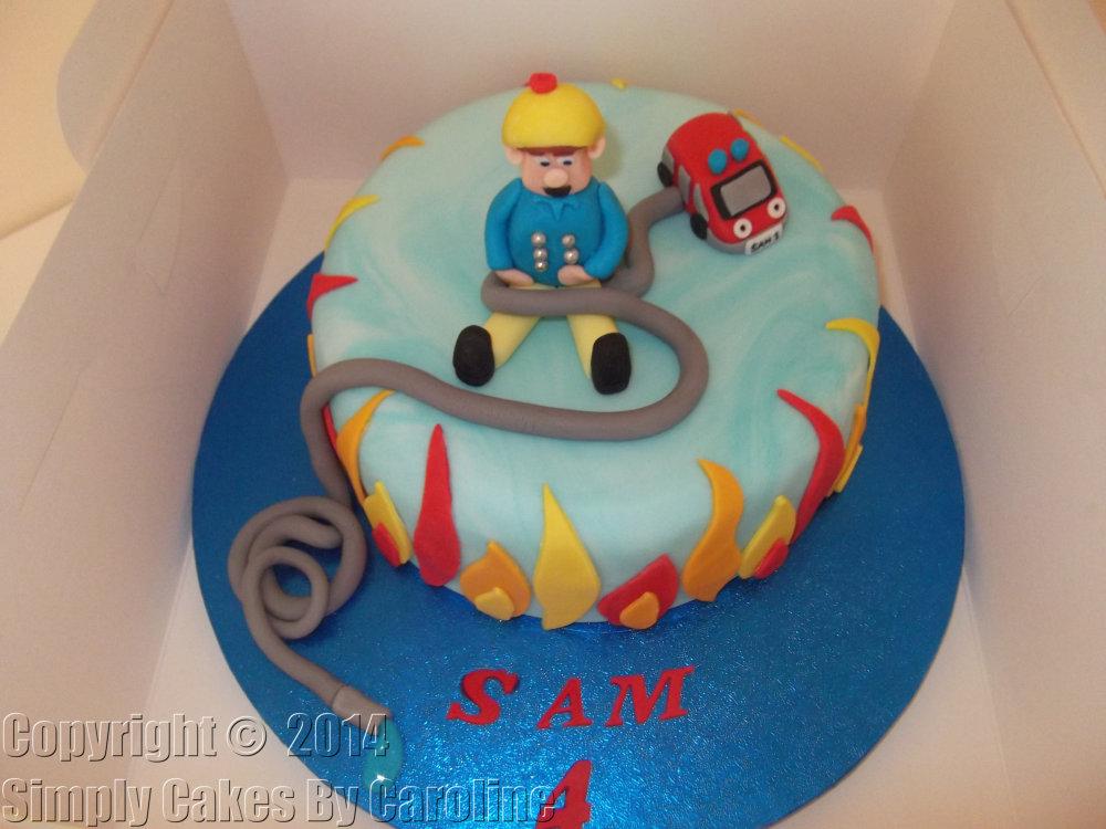 9 Sams Birthday Cakes Cake Photo Fireman Birthday Cake Ideas