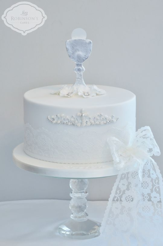7 Photos of White And Gold First Holy Communion Cakes
