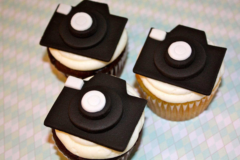 Fondant Camera Cupcake Toppers