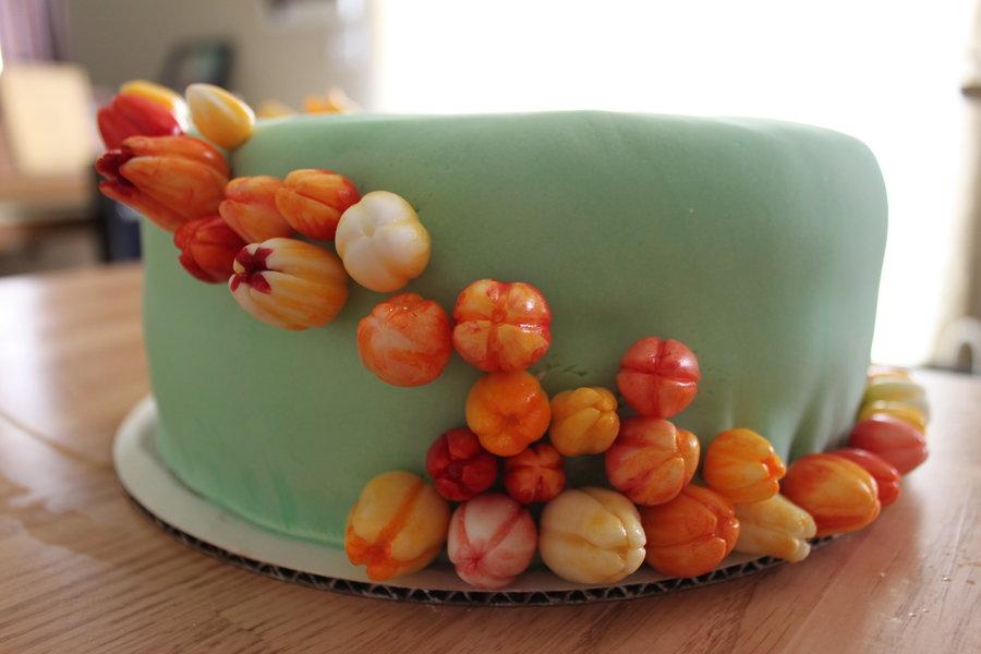 Fondant Tulip Cake