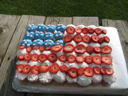 Fourth of July Cupcake Cake Ideas