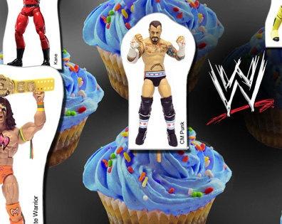 Free Printable WWE Cupcake Toppers