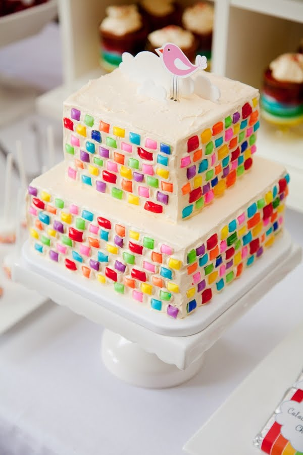 Marvelous 9 With No Fancy Fondant Cakes Photo Gorgeous Rainbow Birthday Funny Birthday Cards Online Inifodamsfinfo
