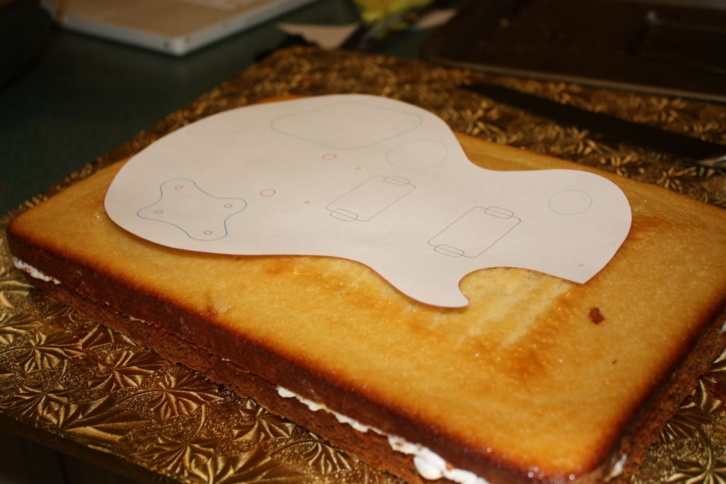 12 Guitar Cake Template Cakes Photo Birthday Free