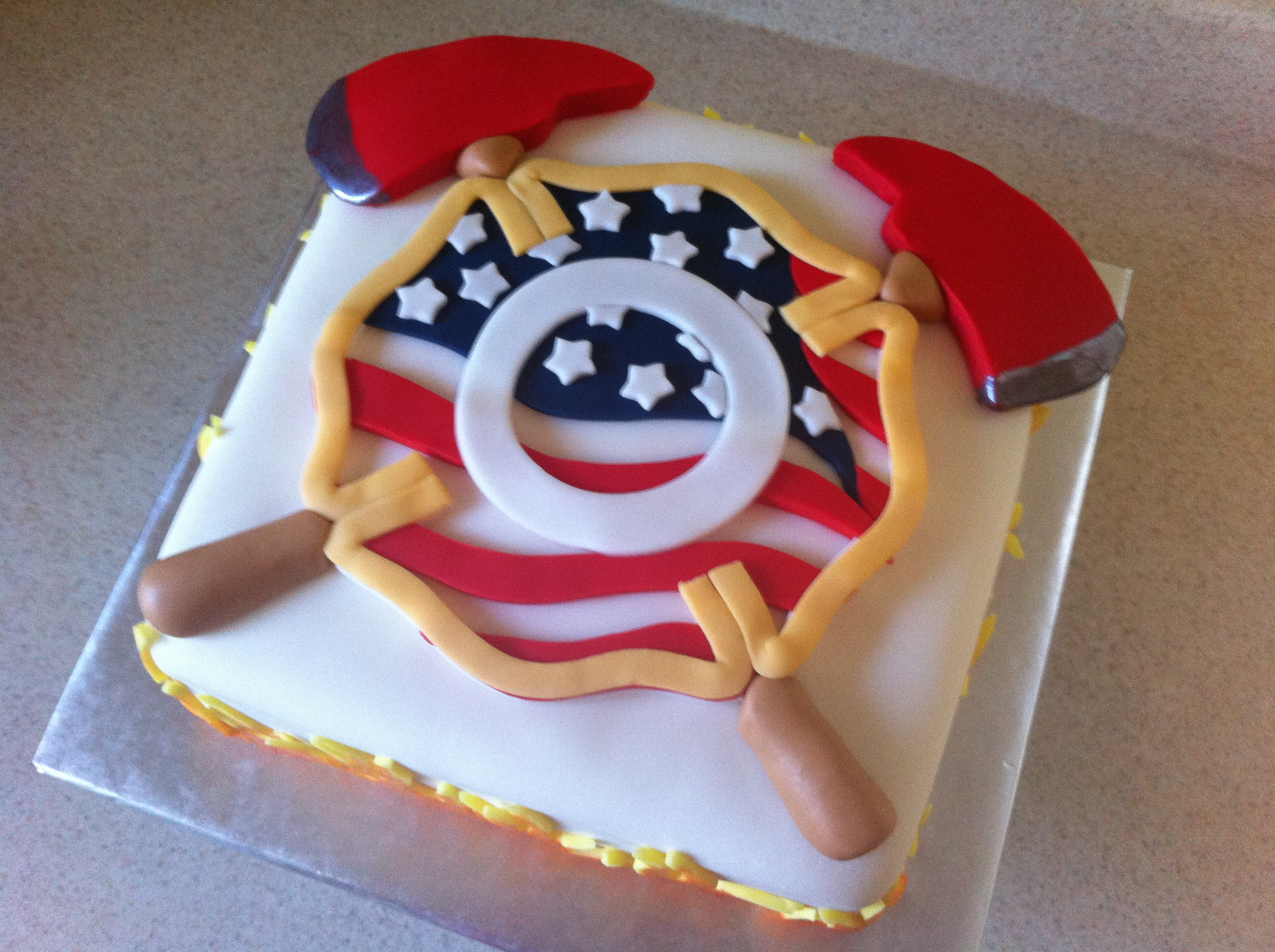 9 Firefighter Cakes For Adults Photo Firefighter Birthday Cake