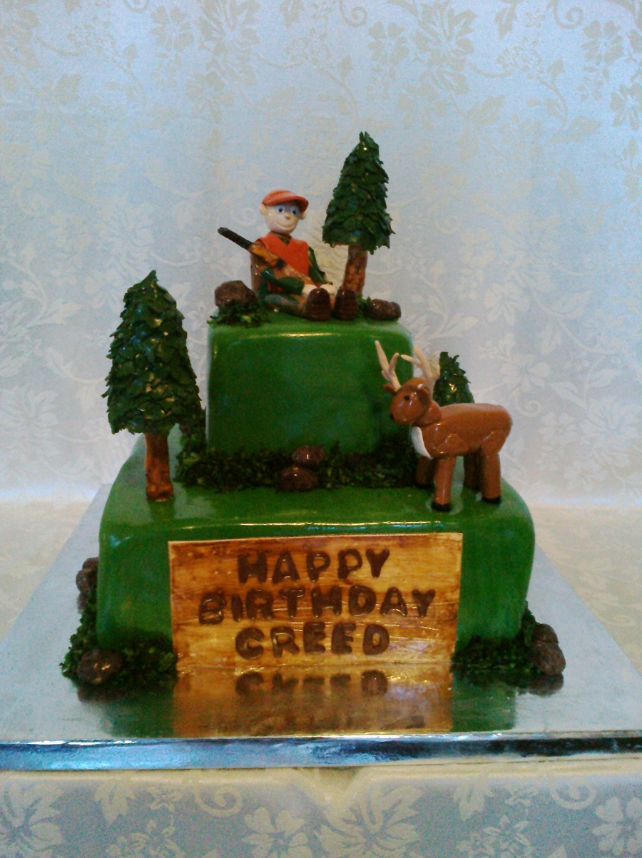 Stupendous 9 Hunting Cakes For Little Boys Photo Boys Hunting Birthday Cake Personalised Birthday Cards Epsylily Jamesorg