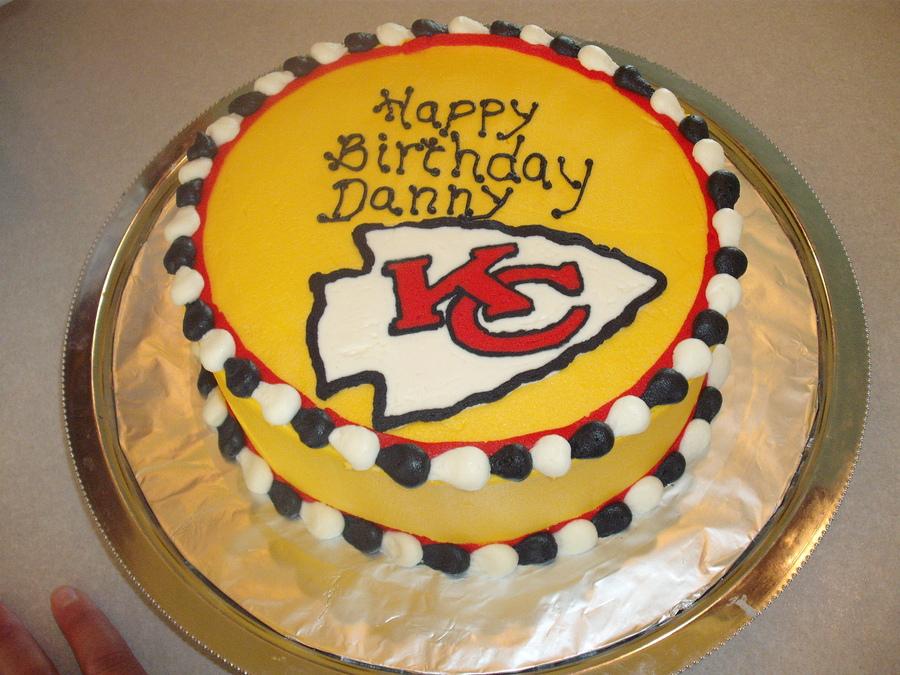 Kansas City Chiefs Happy Birthday Cake