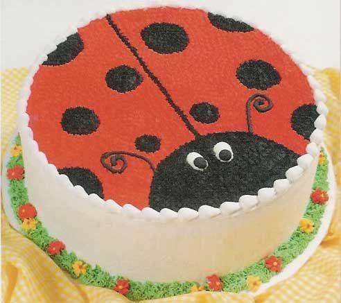 11 Photos of Circle Ladybug Cakes