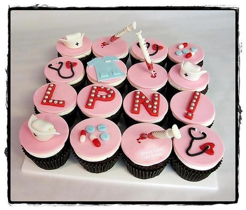 LPN Nursing Graduation Cupcakes