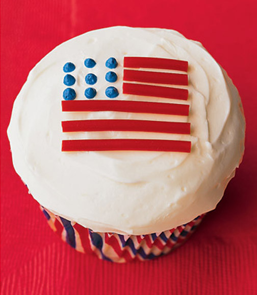 Martha Stewart 4th of July Cupcakes