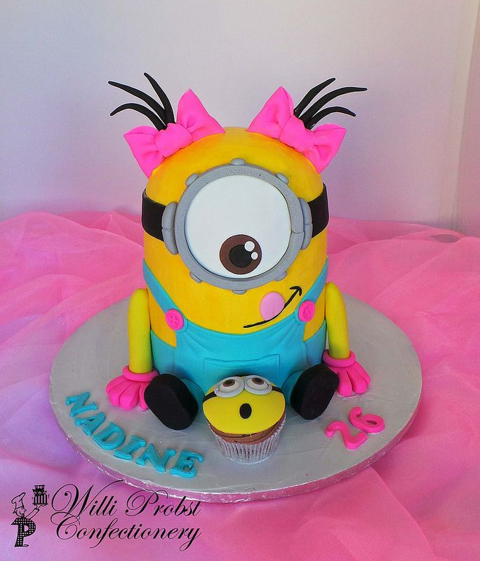 Minion Birthday Cake Ideas Girl
