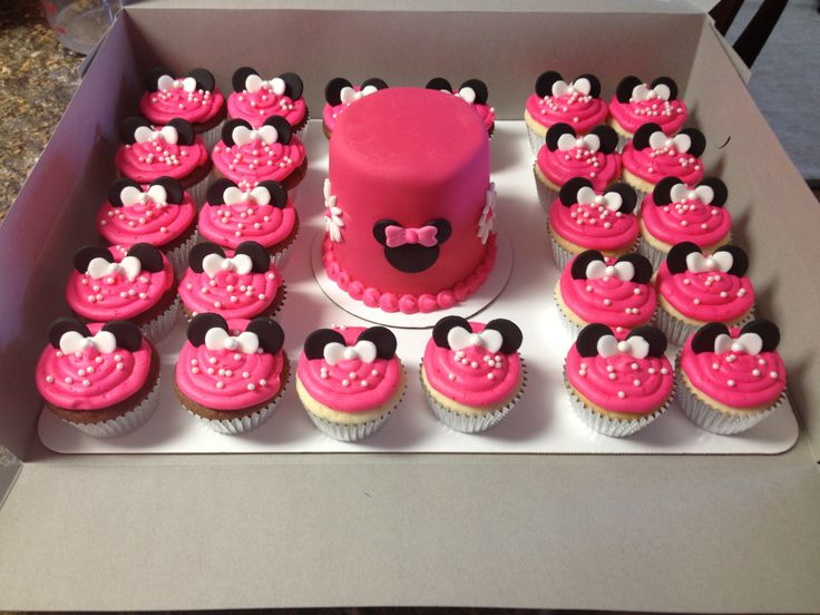 12 Photos of Minnie Mouse 1st Birthday Smash Cake And Cupcakes