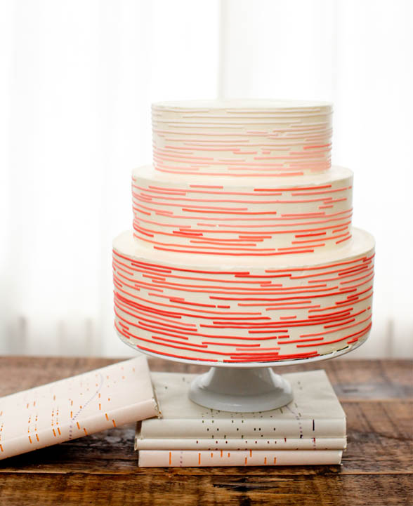 Modern Ombre Wedding Cake