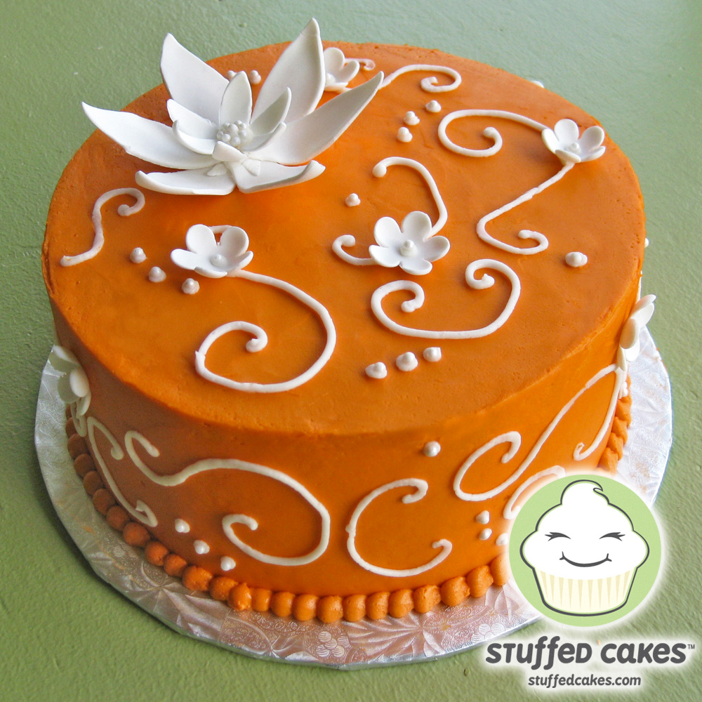 Surprising 11 Orange Birthday Sheet Cakes Photo Orange Birthday Cake Funny Birthday Cards Online Hetedamsfinfo