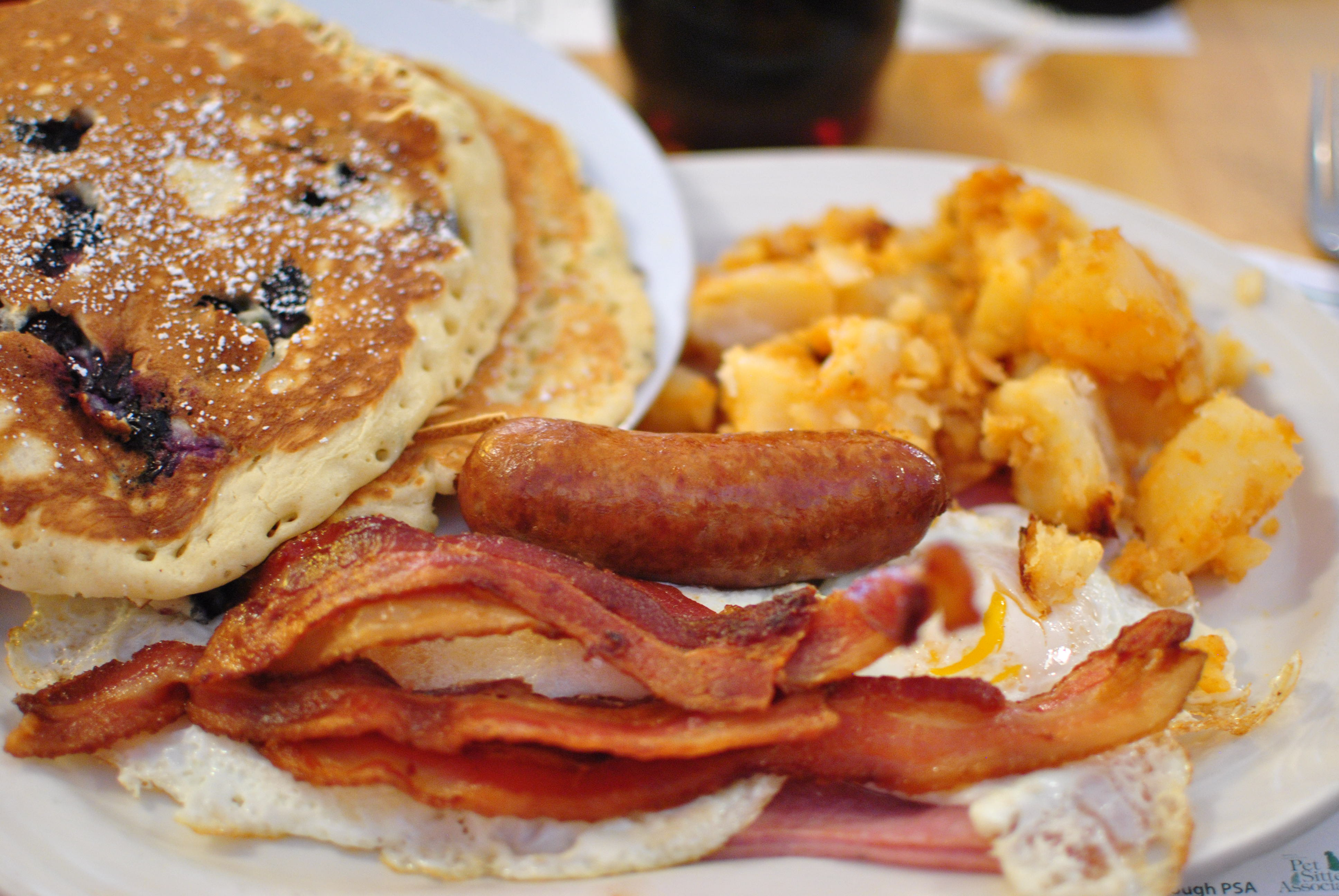 8 Photos of Turkey Sausage Eggs And Bacon Pancakes