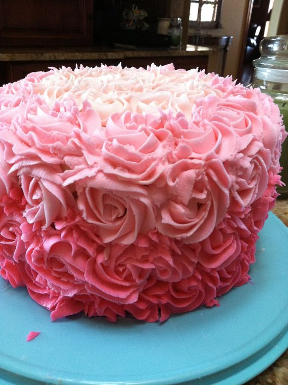 8 book flowers pink cakes photo pink ombre frosted cake paula pink ombre frosted cake mightylinksfo