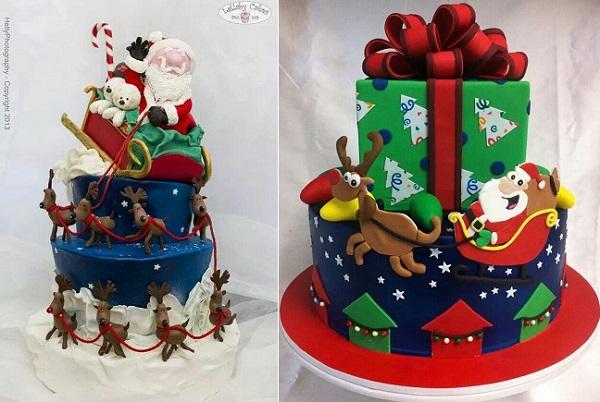 7 Photos of Pinterest Santa Christmas Cakes