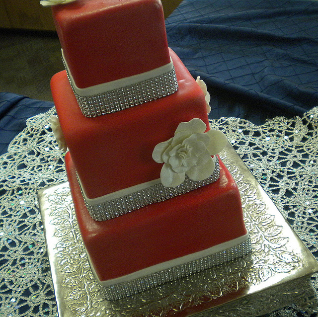 8 Photos of Red Wedding Cakes With Fondant
