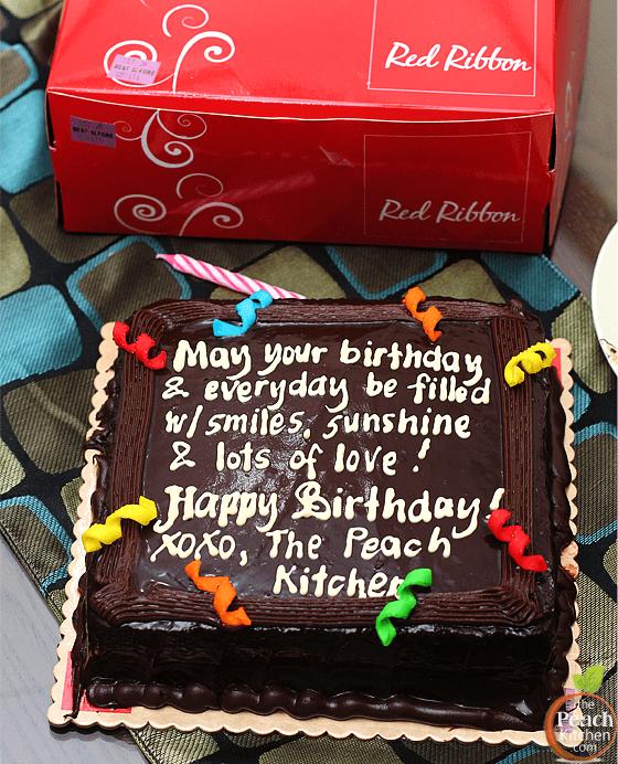 Red Ribbon Birthday Cake Price