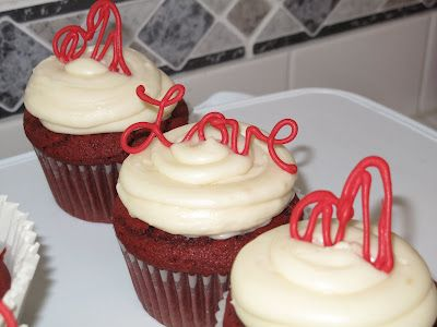 Red Velvet Cupcakes with Filling