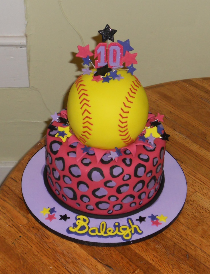 12 Softball Themed Cakes For Girls Photo