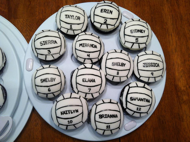 11 Photos of Fondant Volleyball Cupcakes