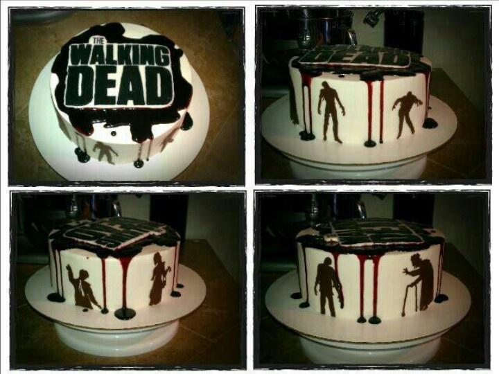 9 Walking Dead Sheet Cakes Photo Walking Dead Themed Birthday Cake