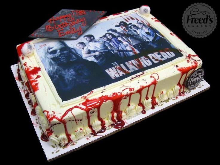 9 Photos of Walking Dead Sheet Cakes