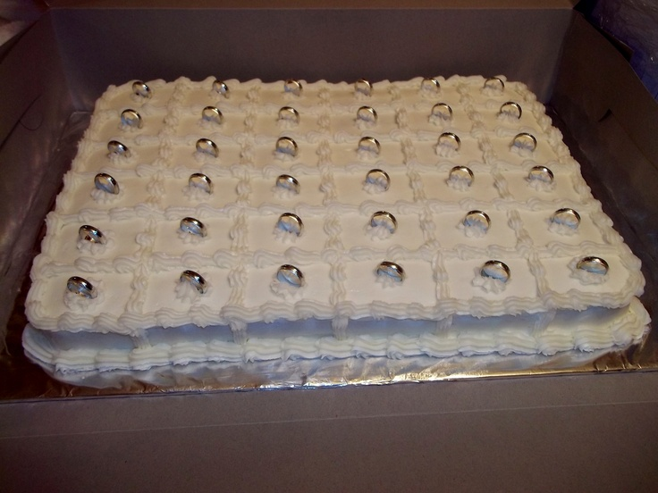Wedding Shower Cake Squares