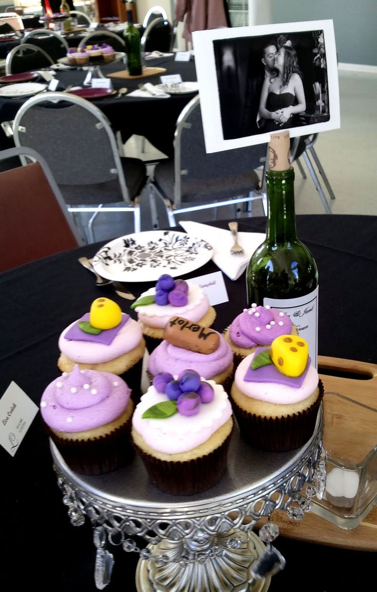 10 Photos of Shower Cupcakes For A Wine Cheese