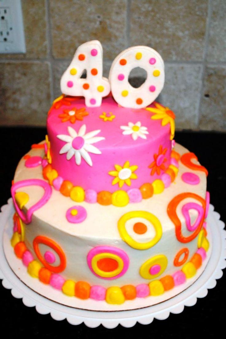 Woman 40th Birthday Cake Ideas