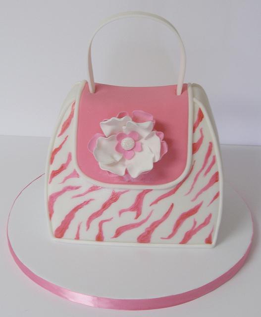 8 Photos of Pink Zebra Purse Cakes