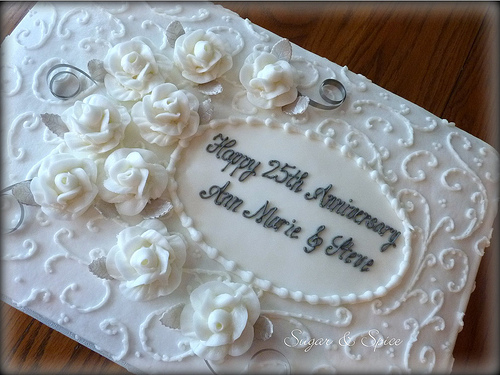 8 Photos of Elegant Anniversary Sheet Cakes