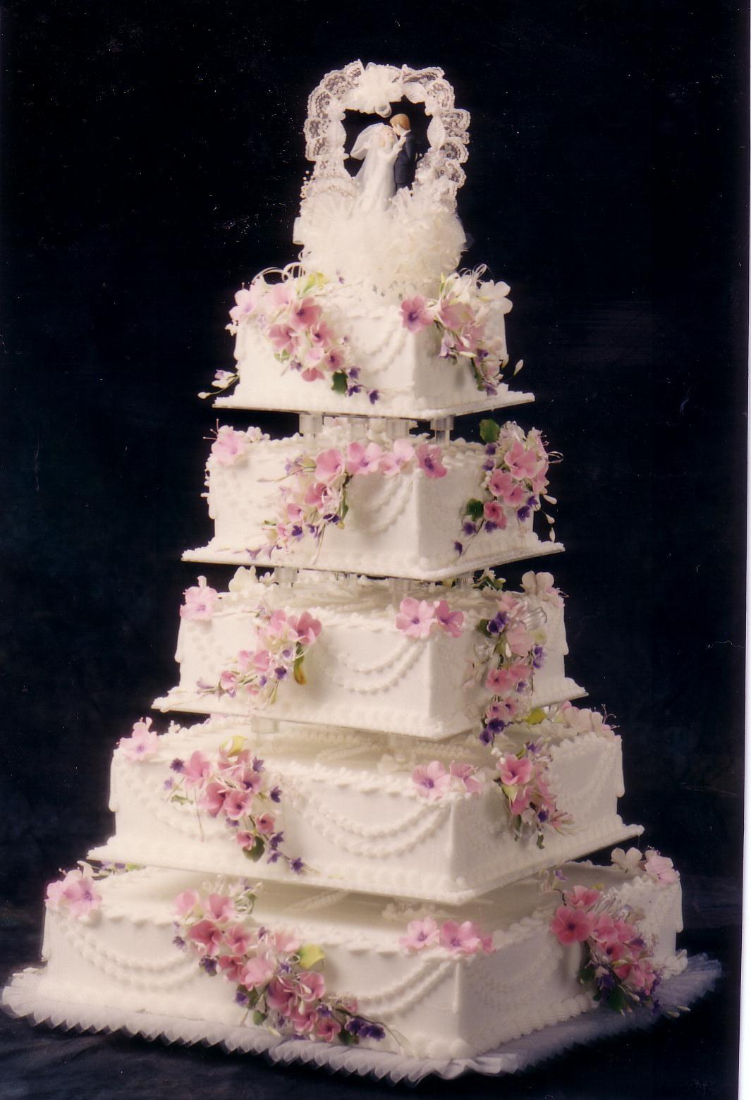 10 Pink Birthday Cakes 5 Tiers Photo