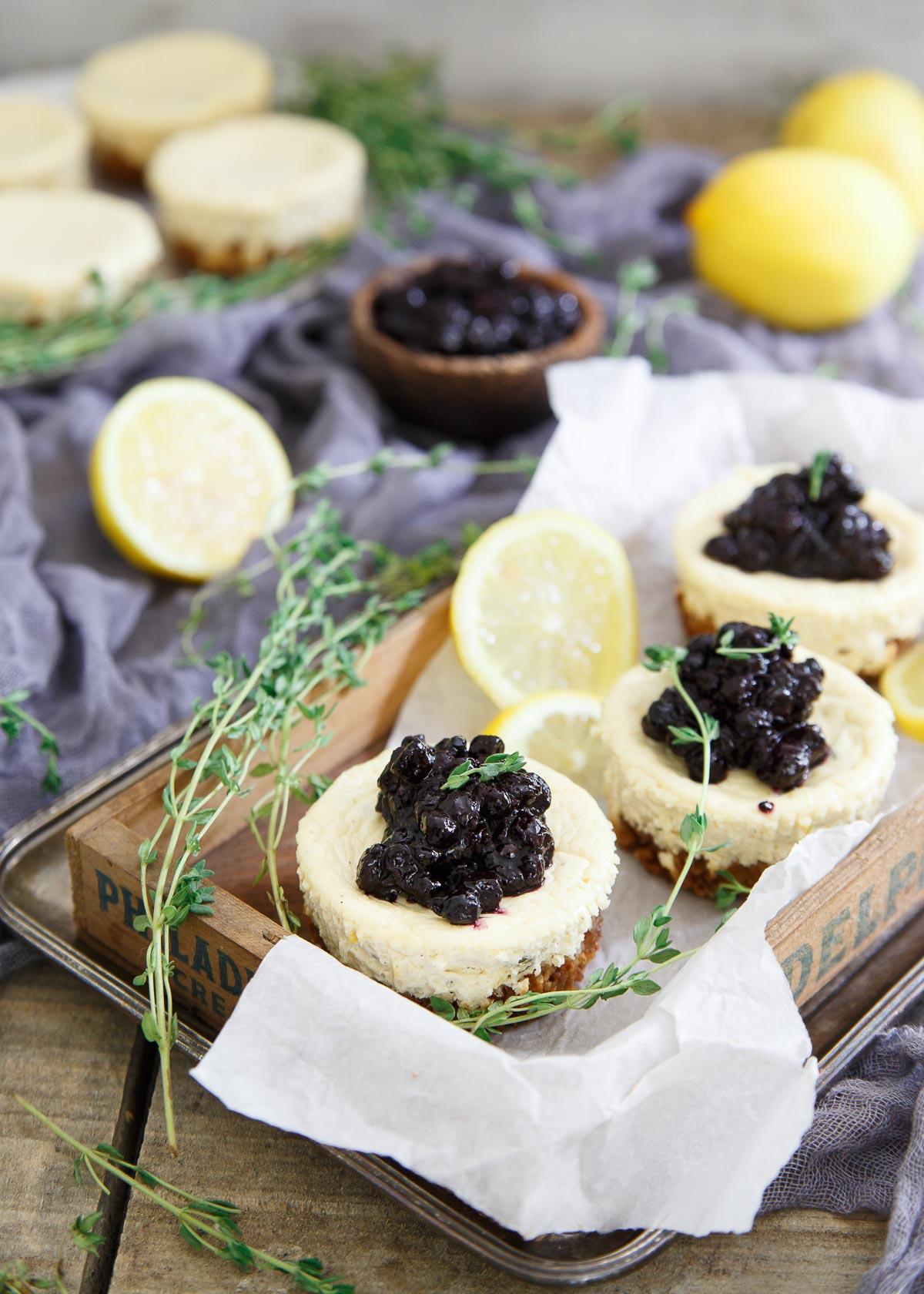 Blueberry Lemon Mini Cheesecakes Recipe