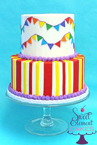 Buttercream Carnival Cake