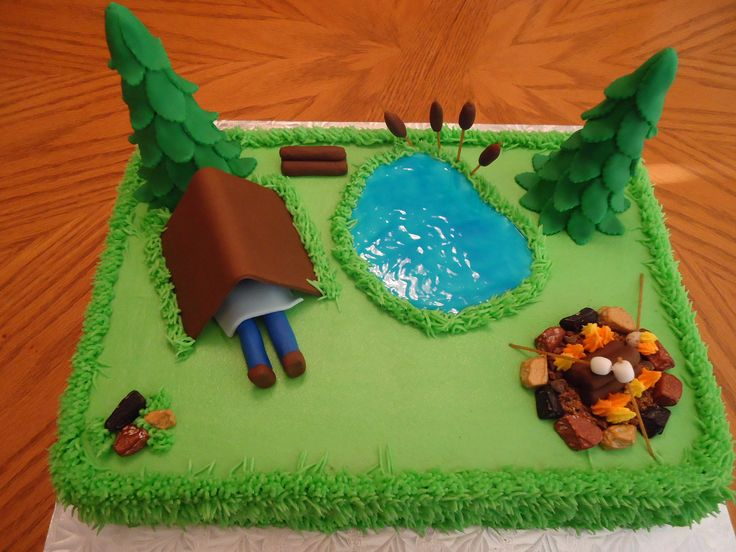 11 Smore Camping Themed Cakes Photo