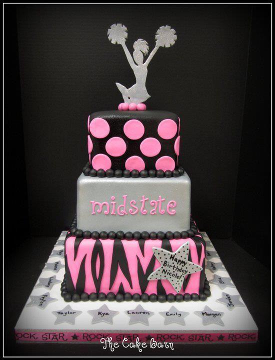 Cheer Birthday Cake Ideas
