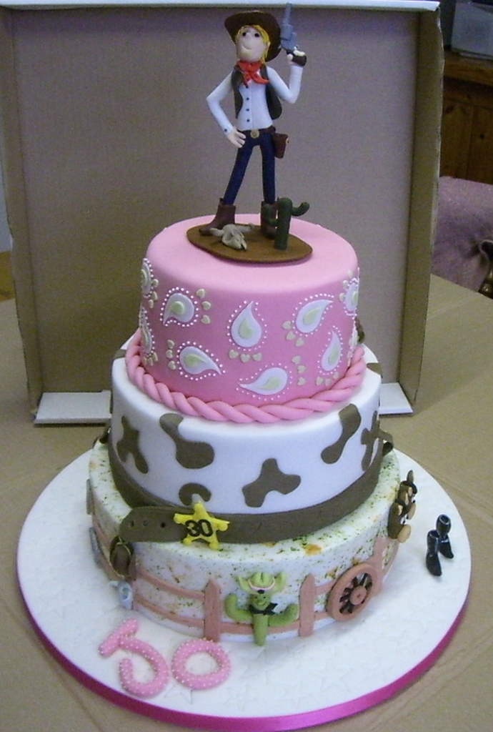 Astonishing 6 Homemade Birthday Cakes Cowgirl Photo Cowgirl Birthday Cake Personalised Birthday Cards Bromeletsinfo