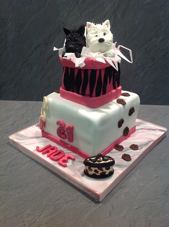 Dog Themed Birthday Cake