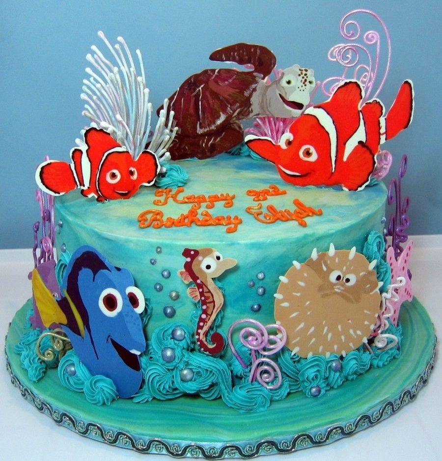 Superb 11 Birthday Cakes Nemo Cupcake Photo Finding Nemo Birthday Cake Funny Birthday Cards Online Drosicarndamsfinfo
