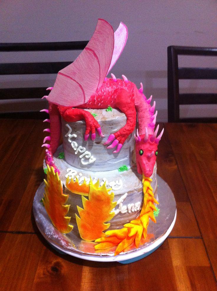 Brilliant 10 Dragon Themed Birthday Cakes Photo Dragon Birthday Cake Funny Birthday Cards Online Alyptdamsfinfo