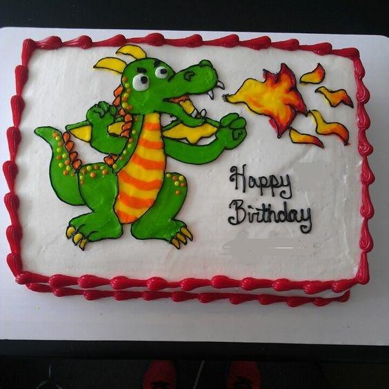 Enjoyable 10 Dragon Themed Birthday Cakes Photo Dragon Birthday Cake Personalised Birthday Cards Veneteletsinfo