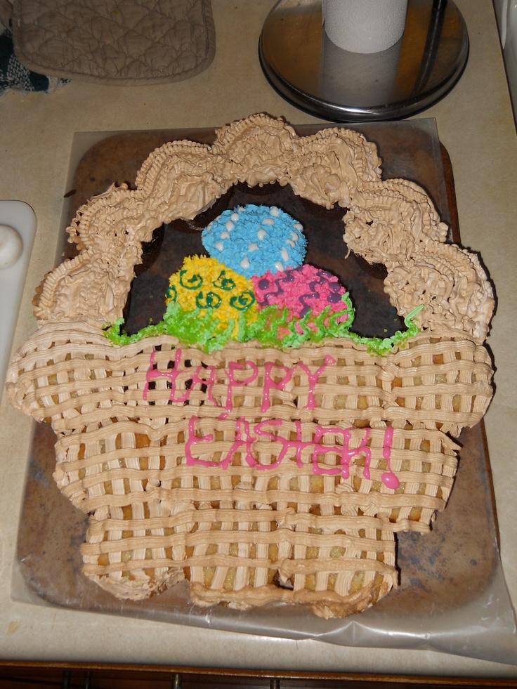 Easter Basket Cupcake Cake