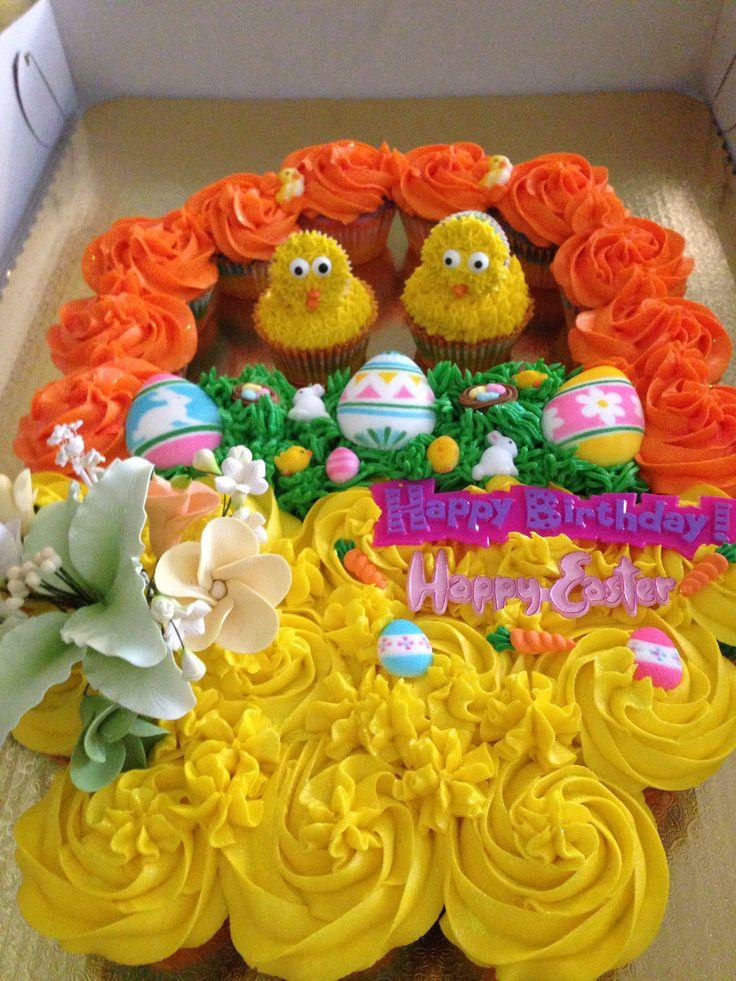 Easter Pull Apart Cake