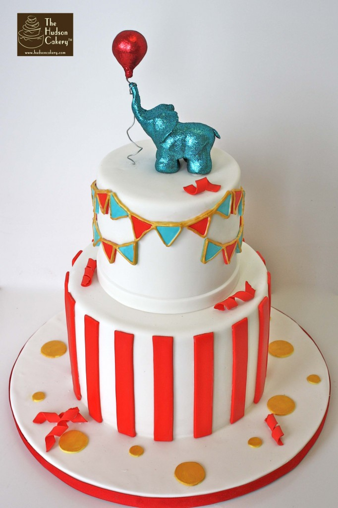 Pleasing 10 Elephants Circus Birthday Cakes Photo Circus Elephant Cake Personalised Birthday Cards Veneteletsinfo