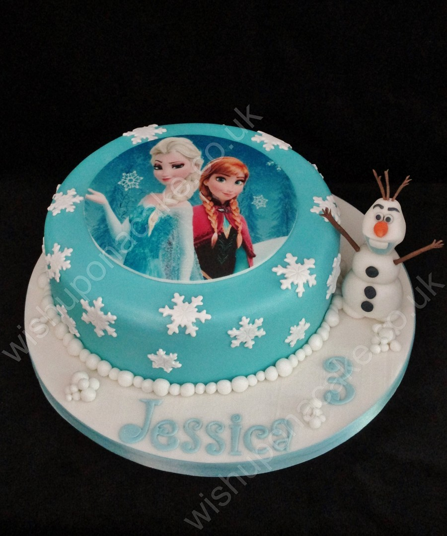 Frozen Single Tier Birthday Cake Theme