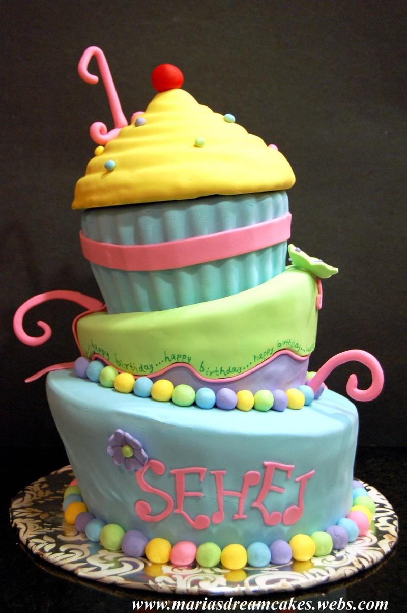 Pleasing 12 Giant Party Cakes Photo Giant Cupcake Birthday Cake Giant Personalised Birthday Cards Xaembasilily Jamesorg