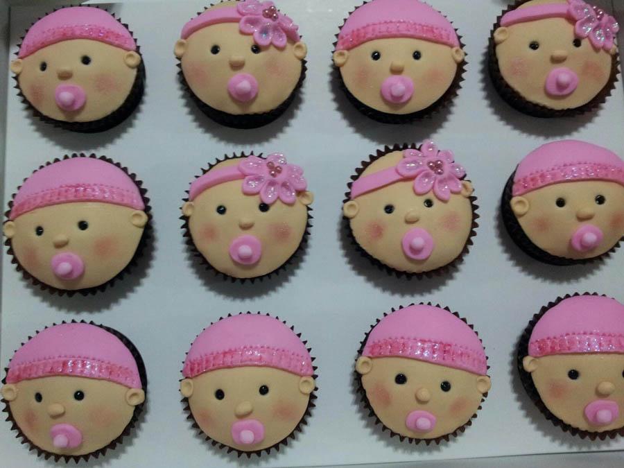 9 Sweet Baby Girl Shower Cupcakes Photo Girl Baby Shower Cupcake
