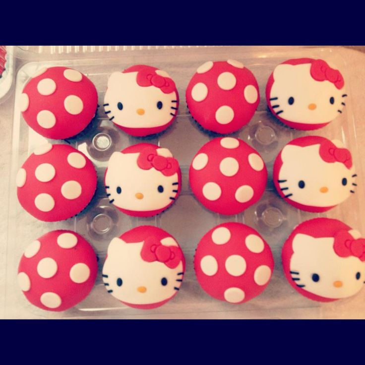 9 Easy Hello Kitty Cupcakes Photo Hello Kitty Cupcakes Hello